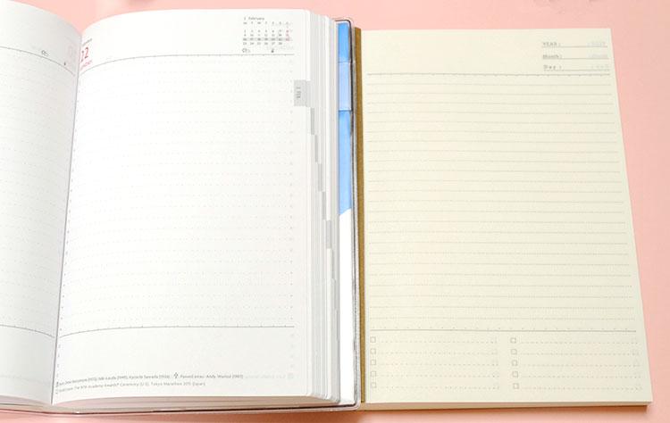 セリアの「368ノート」EDiT手帳と比較 中身