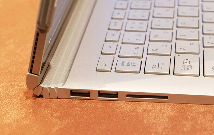 Surface Book ダイナミック フルクラム ヒンジ