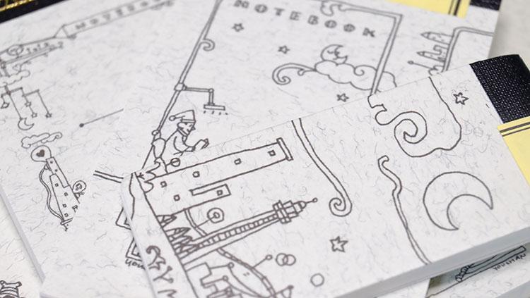 Thinking Power Notebook 素敵なイラストはYOUCHANさんによるデザイン