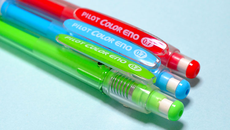 便利に使えるpilotのカラーシャープペン「シャープカラーイーノ」0.7mm