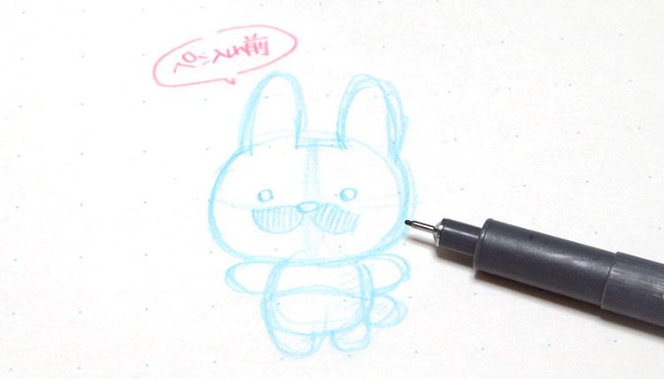 pilotのカラーシャープペン「シャープカラーイーノ」便利な使い方1、下絵