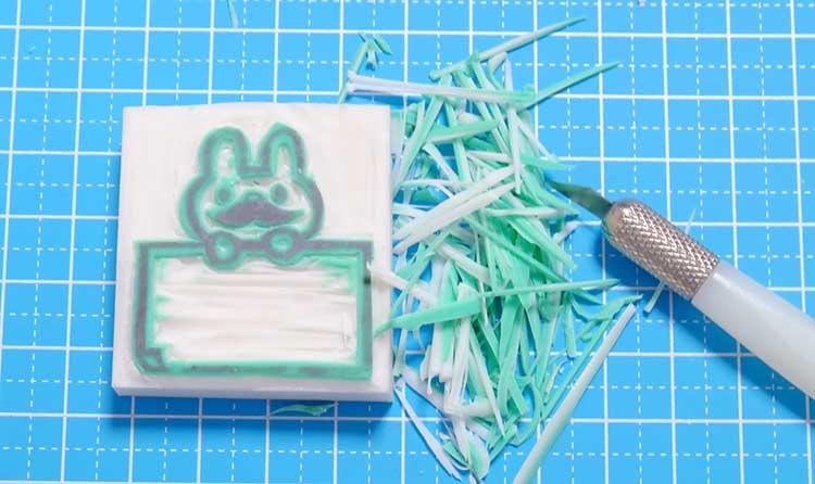 消しゴムはんこの作り方「ほるナビ」カッターと彫刻刀で彫る