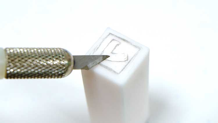 消しゴムハンコの作り方「ほるなびぽちっとはんこ」てん刻用デザインカッター