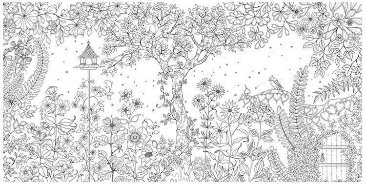 ひみつの花園 花いっぱいのぬりえブック