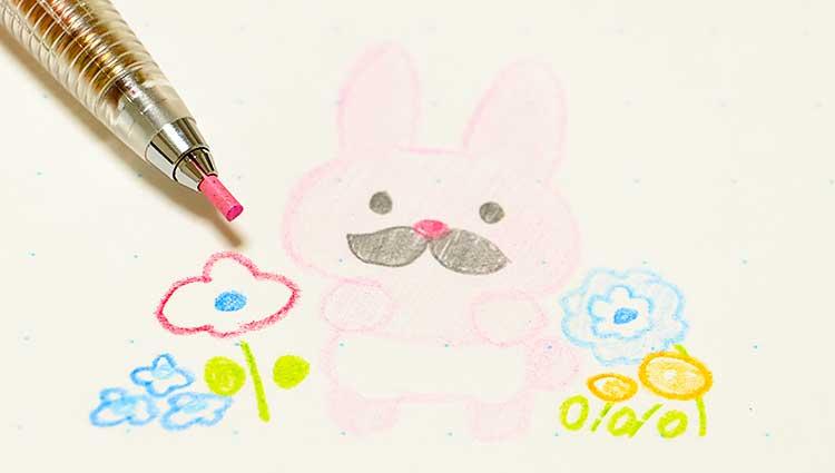 1本で8色描けるシャープペン「ぺんてるマルチ8」手帳やノートにさらっとかける