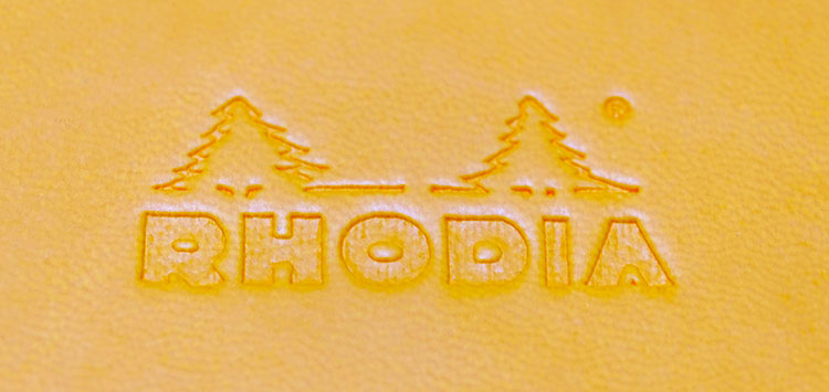 RHODIA(ロディア)ウェブノートブックのランドスケープふわふわ表紙とロゴ