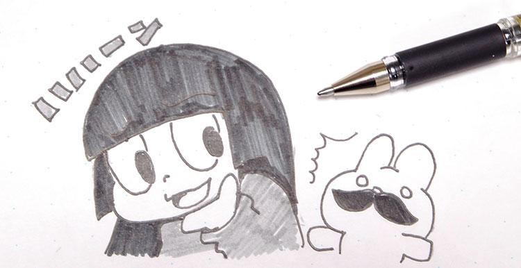 ユニボールシグノ(shigno) 太字でイラストを書く