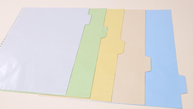 キングジム「透明インデックスポケット」5色のタグ