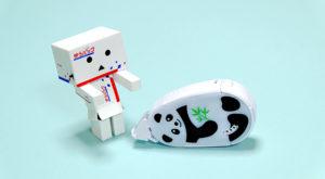 限定版!可愛い動物の形のテープのりコクヨ「ドットライナーZoo」パンダ