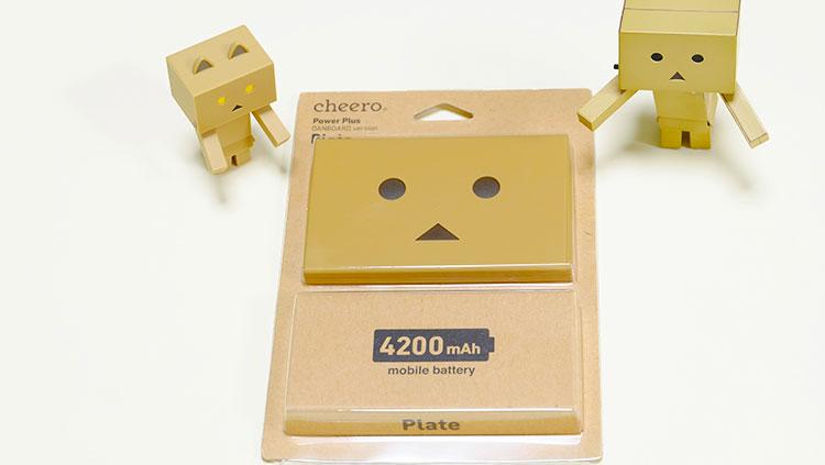 女子にもおすすめ!超軽くて大容量のかわいいモバイルバッテリ「cheero Power Plus Plate 4200mAh」