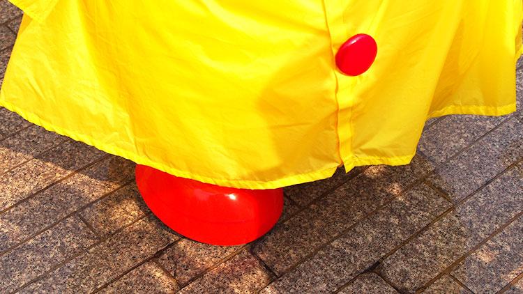赤レンガ倉庫「スプラッシュ・アップ!」カッパピカチュウ靴防水