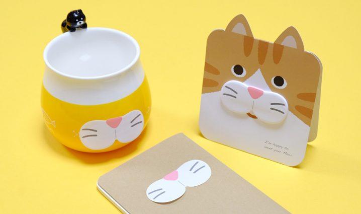 にゃんと可愛い!「SUGAI WORLD(スガイワールド)」の猫ひげ付箋