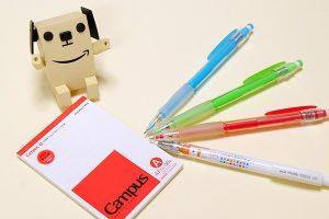 カラーシャープペンの「ユニ ナノダイヤ0.5mm」と「カラーイーノ0.7mm」を比較してみた!
