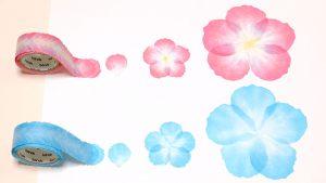 「花びらミニ ピンク」「花びら ピンク」「花びらミニ ブルー」「花びら ブルー」の違い