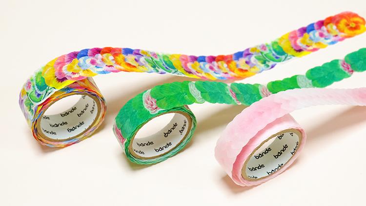 桜の花びらのマスキングテープで話題! 1枚ずつ使える「bande(バンデ)」のマスキングロールステッカー