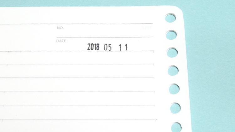 日付スタンプはメモに便利!おすすめのcolop(コロップ)回転日付ハンコ