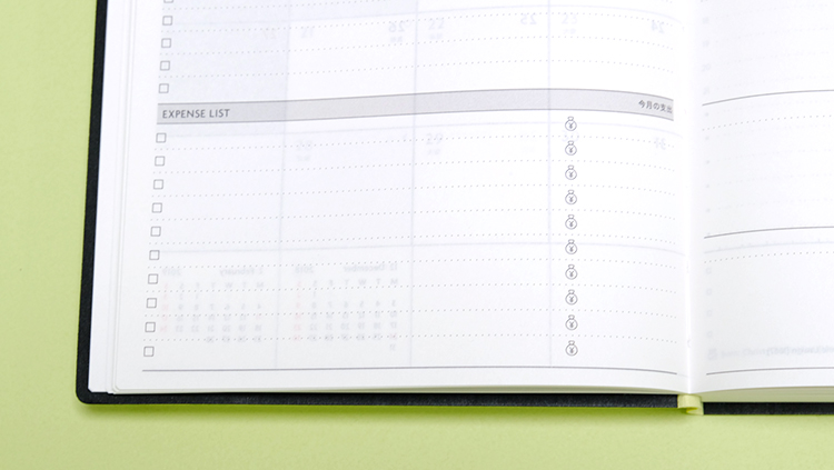 EDiTエディット1日1ページ(Daily)デイリーページ・マンスリーページなど