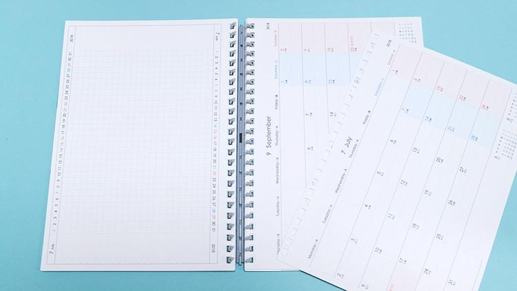 リヒトラブ「卓上カレンダーにもなるダイアリー」ガントチャートにも使える