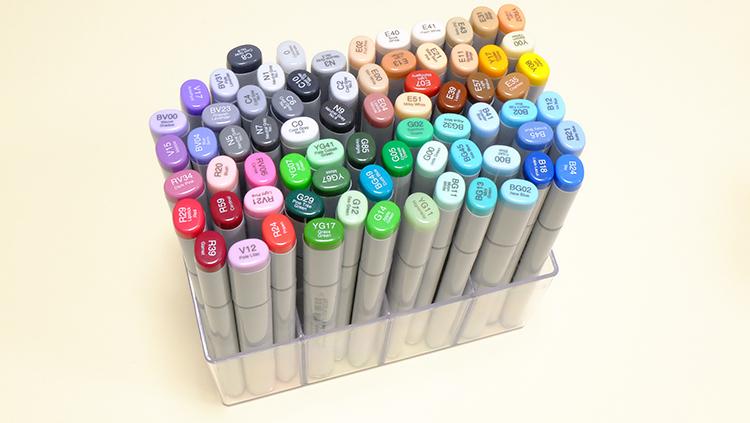 「コピックスケッチ」の72カラーチャートを作ってみた!
