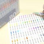 イラストにおすすめ!呉竹「ZIG クリーンカラーリアルブラッシュ」80色を購入し、カラーチャートを作る